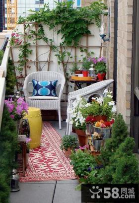 现代日式阳台花园设计图片
