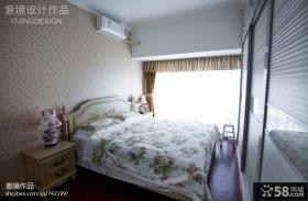 欧式田园卧室墙纸图片大全