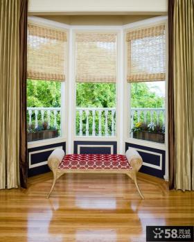 室内阳台装修效果图 室内客厅阳台窗帘装修效果图