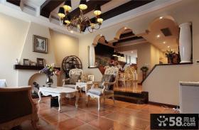 欧式复式楼客厅家具图片