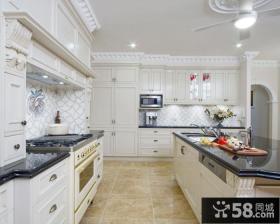 简欧风格开放式厨房设计欣赏
