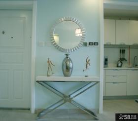 室内玄关桌装饰效果图
