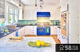 简欧风格厨房橱柜大理石台面