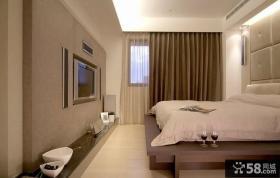 现代简约风格卧室窗帘 装修图