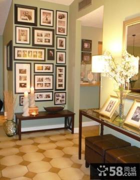 家庭设计装修简单相片墙图片