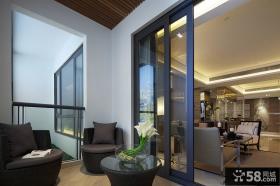 现代都市家装阳台设计