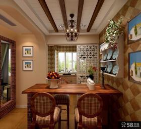 厨房与餐厅隔断设计效果图欣赏