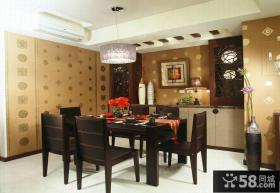 现代中式餐厅室内装饰图片