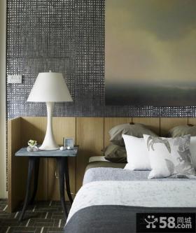 美式田园风格卧室壁纸装修效果图