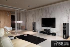 客厅理石电视背景墙装修效果图大全