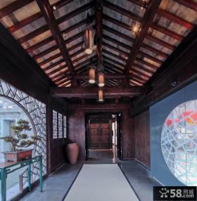 中式古典装修吊顶效果图大全