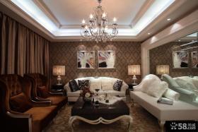 欧式风格两室两厅客厅吊顶装修效果图
