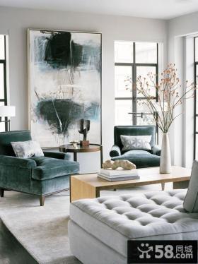 现代家装客厅装饰画效果图