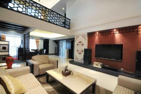 现代中式风格复式客厅装修效果图
