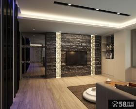 现代风格家庭客厅电视背景墙装修图片欣赏