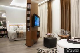 客厅卧室电视背景墙隔断装修效果图