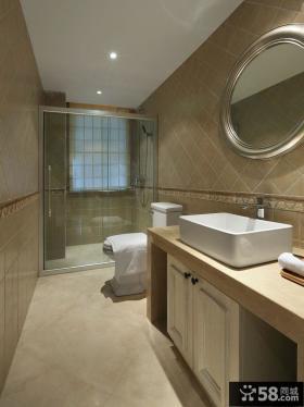 简约美式风格卫生间设计装修图片