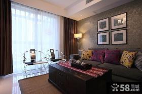 中式小户型客厅装修效果图图片