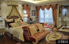 复古欧式豪华卧室装修设计图片