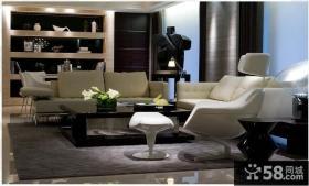 黑白色风格客厅家具布置