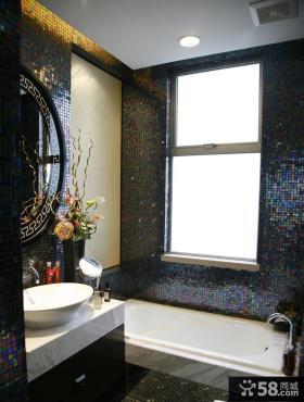 现代卫生间马赛克瓷砖效果图