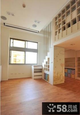 挑高小户型室内木地板贴图