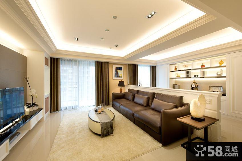 美式简约风格三居室内装修图片