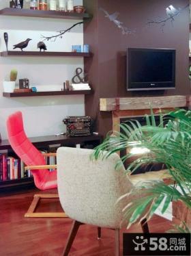 2012后现代风格客厅电视背景墙装修