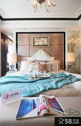 欧式新古典风格卧室软包床头图片