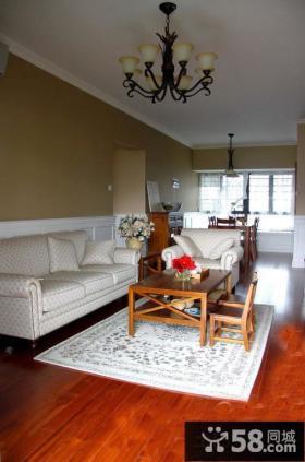 现代美式风格客厅三人沙发图片