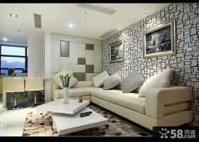 现代客厅沙发墙面背景墙装修效果图