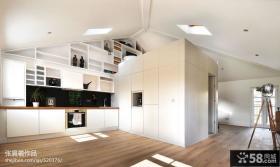 斜顶阁楼家居室内装修效果图大全