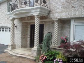 别墅大门欧式罗马柱效果图