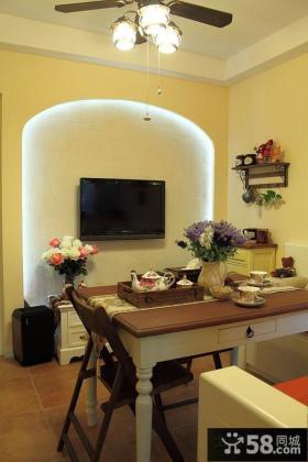田园风格小户型客厅电视背景墙装修