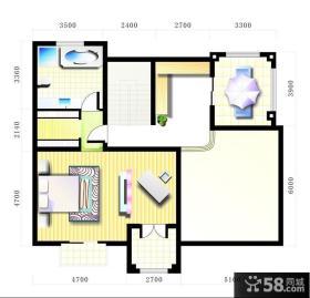 经典小户型室内设计平面图