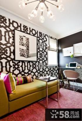 120平复式楼现代书房装修效果图大全2012图片
