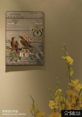现代美式家居墙面挂画图片