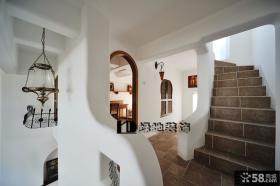 复式阁楼楼梯装修效果图大全2013图片
