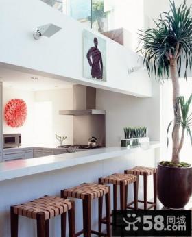 小复式浪漫的厨房吧台装修效果图大全2014图片