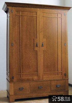 中式实木衣柜