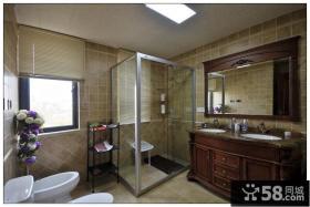 美式风格家庭装修卫生间设计