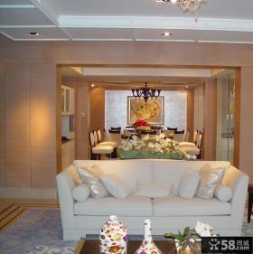 简约风格80平方米两室一厅装修效果图
