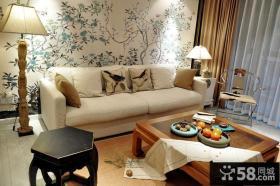 新中式风格客厅装饰效果图