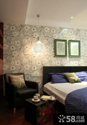现代中式小户型卧室装修图片