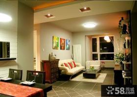 小户型客厅led吸顶灯效果图