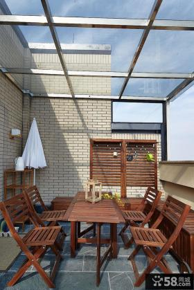 简约风格复式家居阳台装修图片