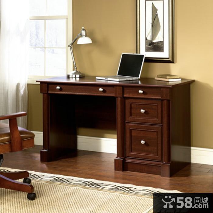 书柜电脑桌效果图