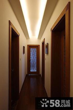 中式家装过道吊顶装修效果图片