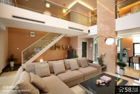 别墅客厅沙发装饰效果图