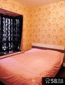 田园卧室碎花壁纸图片欣赏